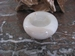 Thee waxine licht (Marmer/Sardonyx) E041 2 x 7 cm