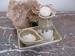 Olie karaf  de Luxe met scrub bakje en schaal 5 setjes