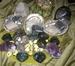 Edelsteen Bergkristal en Hematiet 24 stuks